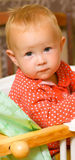 Little girl. A little girl of European appearance with a pathetic sigh Royalty Free Stock Photos