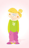 Little Girl. Vector Little Happy Girl Child Royalty Free Illustration