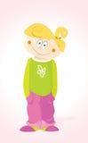 Little Girl. Vector Little Happy Girl Child Royalty Free Stock Image