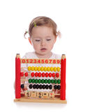 Little girl with abacus Stock Image