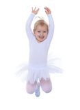 The little Girl is an acrobat jumps in a Royalty Free Stock Photography
