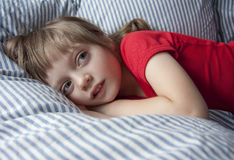 little girl afraid of the dark Royalty Free Stock Photography