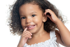 Little girl with an afro hairstyle Stock Photos