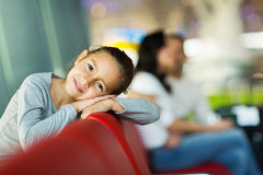 Little girl aiport Stock Photography
