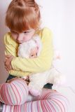 Little girl alone Royalty Free Stock Images