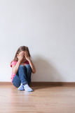 Little Girl Alone stock photo