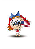 Little girl america Royalty Free Stock Image
