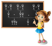 Free Little Girl And Family Tree On The Board Stock Photo - 84573480