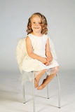Little girl angel Stock Images