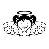 Little girl angel character Royalty Free Stock Images