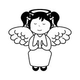Little girl angel character Royalty Free Stock Image