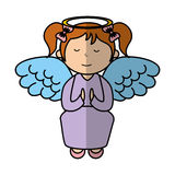 Little girl angel character Stock Image