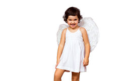 Little girl angel Royalty Free Stock Photography