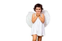 Little girl angel Royalty Free Stock Photo