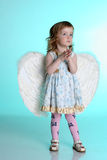 A little girl with angel wings Royalty Free Stock Image