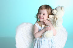 A little girl with angel wings Royalty Free Stock Photography