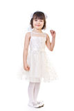 Little girl with angel wings. Standing little girl with angel wings Royalty Free Stock Images