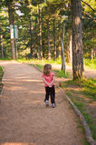 Little girl Angry walk Stock Photos
