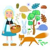 Little girl and animal Stock Photo