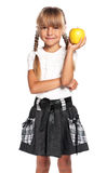 Little girl with apple Royalty Free Stock Photography