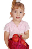 Little girl with apples Royalty Free Stock Photo