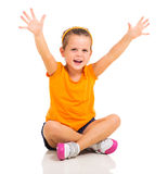 Little girl arms up Royalty Free Stock Photos