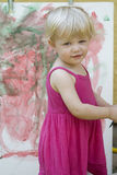 Little girl artist Royalty Free Stock Images