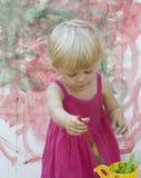 Little girl artist Stock Photos