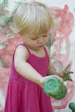Little girl artist Stock Photography