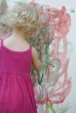 Little girl artist Royalty Free Stock Images