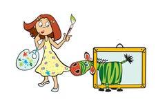Little girl artist Royalty Free Stock Image