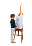 Little girl artist drawing Royalty Free Stock Photo