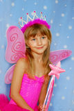 Little girl as fairy Stock Images