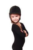 Little girl as a horse-woman Royalty Free Stock Photos