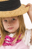 Little girl as mannequin Stock Photo