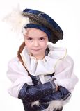 Little girl as a prince Stock Photos