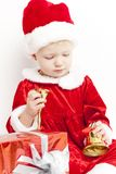 Little girl as Santa Claus Royalty Free Stock Photography