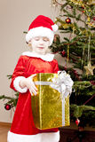 Little girl as Santa Claus Royalty Free Stock Images
