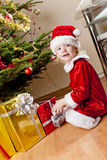 Little girl as Santa Claus Stock Photography
