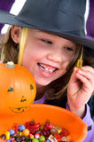 Little girl as witch Stock Photography