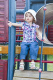 Little girl asking for help at playground Stock Photography