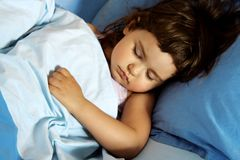 Little Girl Asleep Stock Photo
