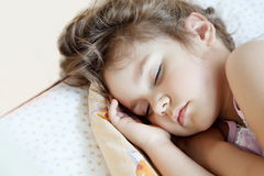 Little Girl Asleep Royalty Free Stock Photo