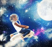 Little girl astronaut Royalty Free Stock Images
