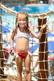 Little Girl At Aquapark Royalty Free Stock Images