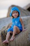 Little Girl At Beach Stock Image