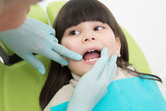 Little Girl At Dentist S Office Royalty Free Stock Photos