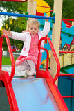 Little Girl At The Playground Royalty Free Stock Photography