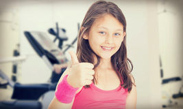 Little girl athlete Stock Photos