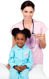 Little girl attending medical check-up Stock Image
